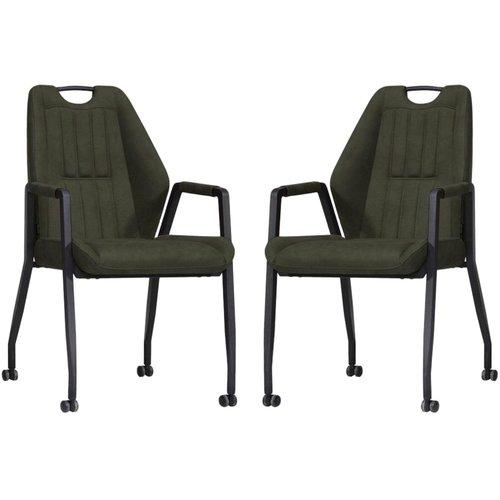 MX Sofa Stuhl Axa mit Rädern - Moss - 2er Set