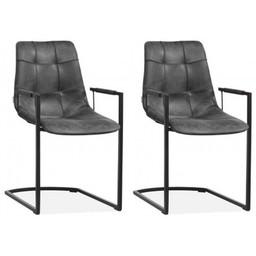 MX Sofa MX Sofastuhl Condor Farbe Anthrazit - Set mit 2 Stühlen
