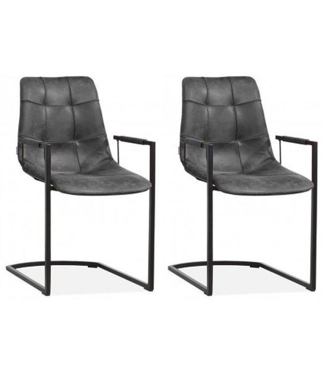 MX Sofa Condor chair with armrest and freeswing base color Anthracite - set of 2 chairs