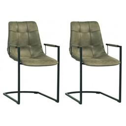 MX Sofa MX Sofastuhl Condor Farbe Olive - Set mit 2 Stühlen