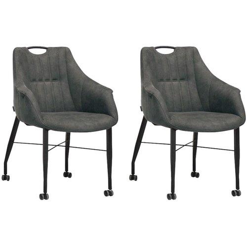 MX Sofa Stuhl Nektar mit Rädern - Anthrazit - 2er-Set - Kopie