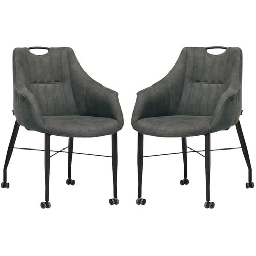MX Sofa Chair Nectar with wheels - Anthracite - set of 2 pieces - Copy
