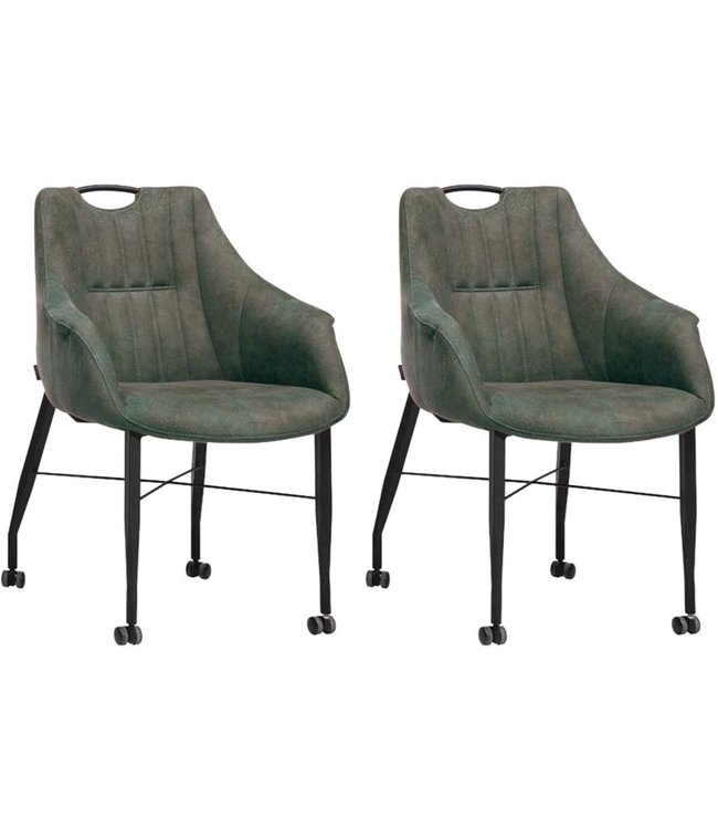 MX Sofa Chair Nectar with wheels - Moss - set of 2 pieces