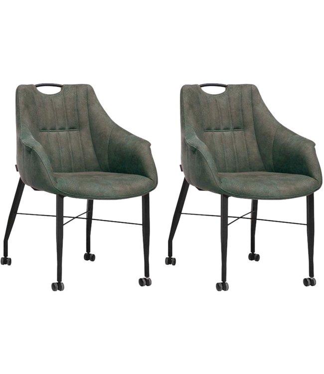 MX Sofa Stuhl Nektar mit Rädern - Moos - 2er Set