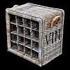 Decomeubel DecoMeubel Rattan wine rack for 16 (wine) bottles