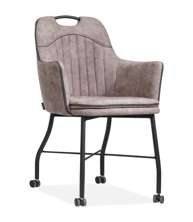 MX Sofa Stuhl Floria mit Rädern - Leber