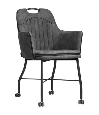 MX Sofa Chair Floria with wheels - Anthracite
