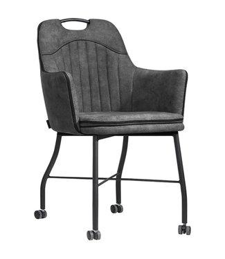 MX Sofa MX Sofa Chair Floria with wheels - Anthracite