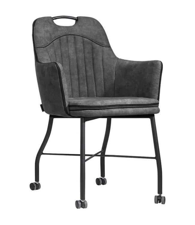 MX Sofa Stuhl Floria mit Rädern - Anthrazit