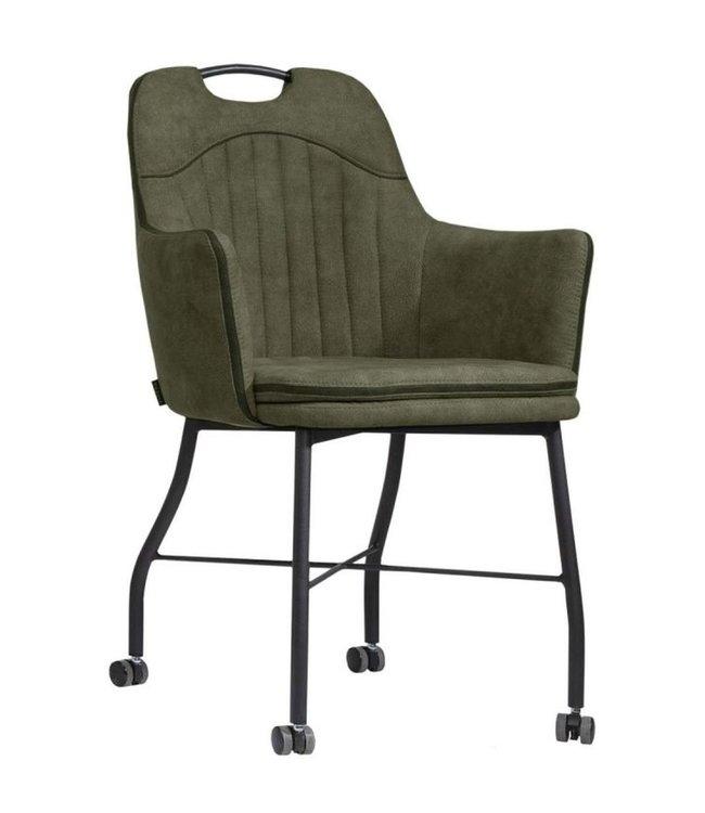 MX Sofa Stuhl Floria mit Rädern - Moos