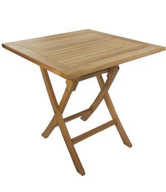 Decomeubel Foldable TEAK garden table square 70 x 70 cm
