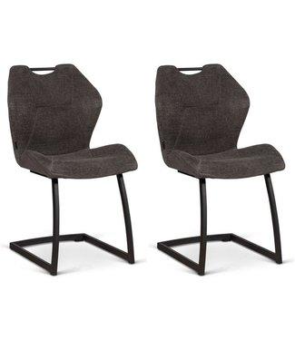 MX Sofa Stoel Riva - Graphite (set van 2 stoelen)