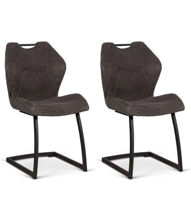 MX Sofa Chair Riva - Graphite (set of 2 chairs)