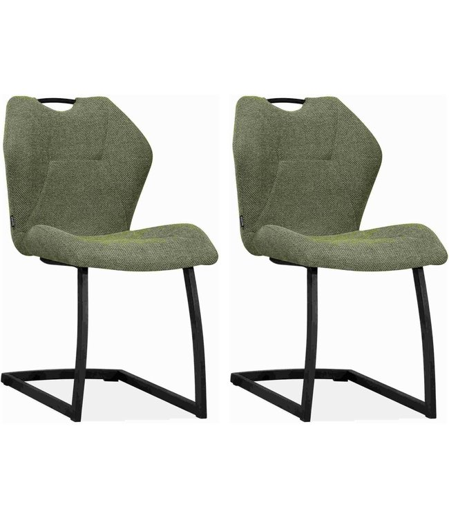 MX Sofa Chair Riva - Turtle (green) - set of 2 chairs