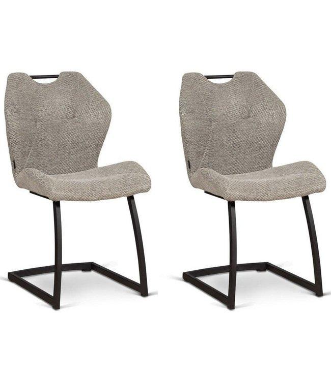 MX Sofa Stoel Riva - Lichtgrijs - set van 2 stoelen