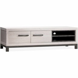 Lamulux TV cabinet Next 2 doors, 2 open compartments