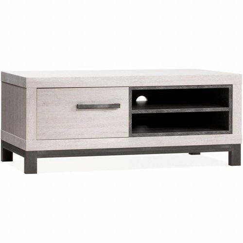 Lamulux TV Cabinet Next 1 door, 2 open compartments