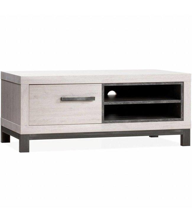 Lamulux TV-Schrank Neben 1 Tür, 2 offene Fächer