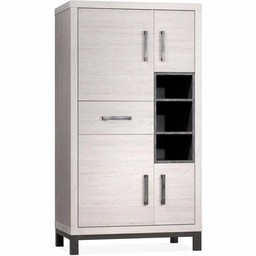 Lamulux Cabinet Next 4 doors, 1 drawer, 3 open compartments