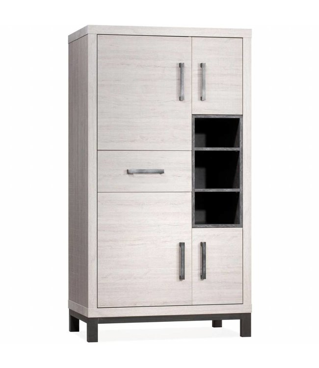 Lamulux Storage cabinet Next 4 doors, 1 drawer, 3 open compartments