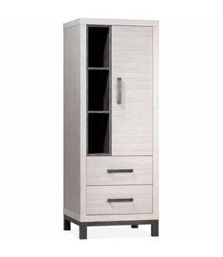Lamulux Bread cabinet Next 1 door, 2 drawers, 3 open compartments