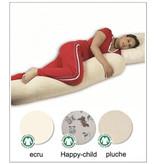 Mudis Mudis® ecologisch speltkaf zwangerschapskussen 150x30, incl. overtrek in diverse uitvoeringen.