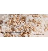 Mudis Mudis® natuurkussenvullingen, in een inlet (40x80) en diverse biologische ingrediënten.