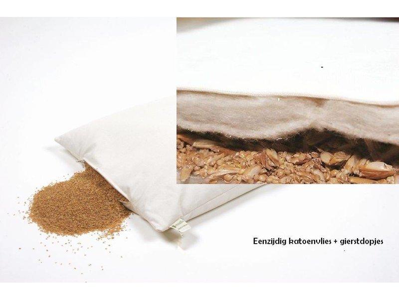 Mudis Mudis® eenzijdig katoenvlies hoofdkussen verkrijgbaar met diverse kussenvullingen. Afmetingen 40x60.