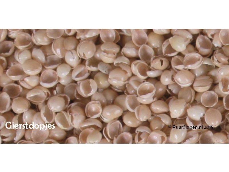 Mudis Mudis® kinderkussen met een milletdopjes kussenvulling. Afmetingen 30x45 en 40x60.