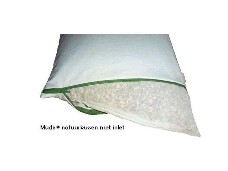 Mudis Mudis® kinderkussen met een speltkaf-milletdopjes kussenvulling. Afmetingen 30x45 en 40x60.