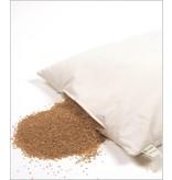 Mudis Mudis® lees- & steunkussen met een milletdopjes kussenvulling. Afmetingen 25x50, 40x40 en 50x50.