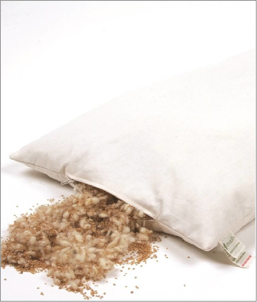 Mudis Scheerwol & milletdopjes lees- steunkussen