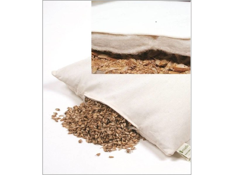 Mudis Mudis® eenzijdig katoenvlies kinderkussen, verkrijgbaar met diverse kussenvullingen. Afmetingen 40x60.