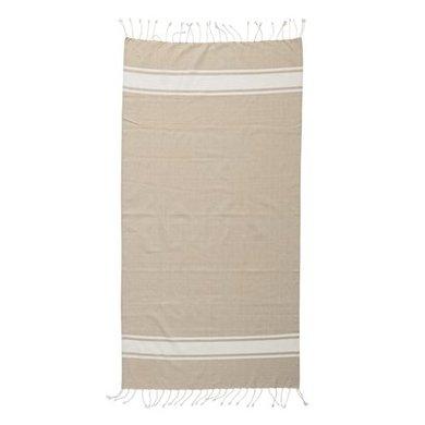 Bloomingville Bloomingville hammam handdoek beige