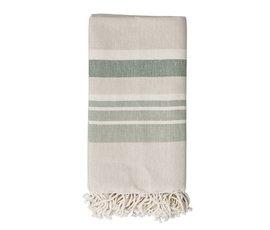 Bloomingville Bloomingville hammam handdoek beige groen
