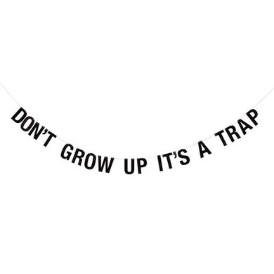 "Bloomingville mini Bloomingville Mini guirlande ""don't grow up it's a trap"""