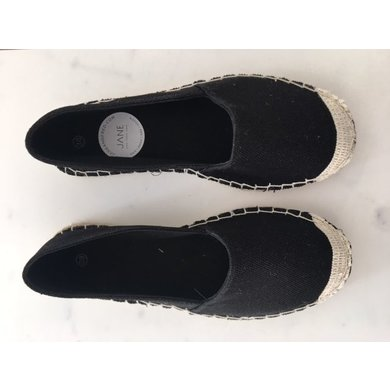 Jane and Fred.com Espadrilles zwart