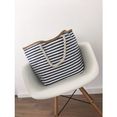 Jane and Fred.com Jane and Fred Strandtas stripes