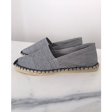 Jane and Fred.com Espadrilles stripes black and white