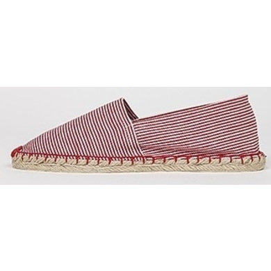 Jane and Fred.com Espadrilles stripes red and white