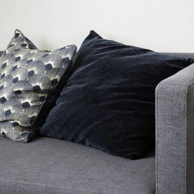 House Doctor House Doctor Cushion velvet blue  petrol 60 x 60