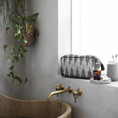 Meraki Meraki toilet pocket jacquard motif