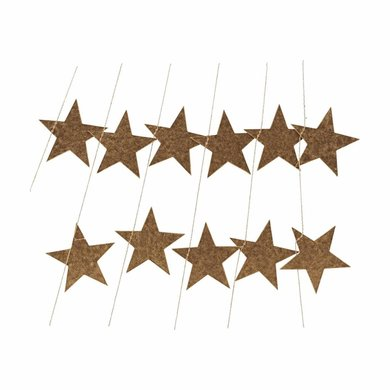 House Doctor House Doctor garland stars gold