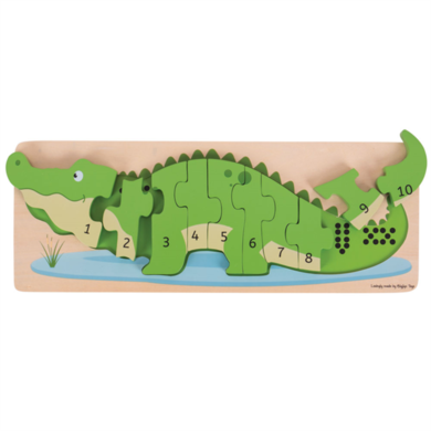 Greentoys Puzzel krokodil