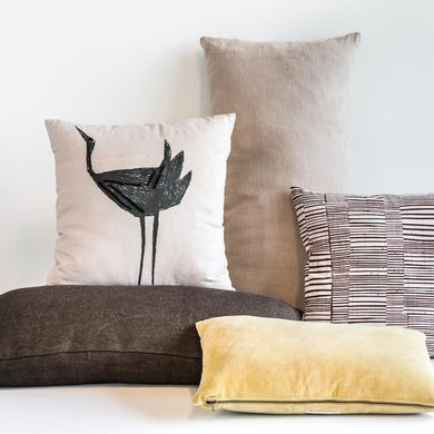 "Urban Nature Culture Amsterdam Cushion ""vintage velvet violet ice"""
