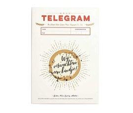 Stratier Kras telegram  wij verwachten een kindje