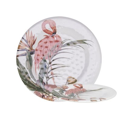 Gusta Melamine bord Flamingo