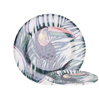 Gusta Melamine plate Flamingo