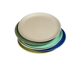 Zuperzozial Bamboo plates set of 6