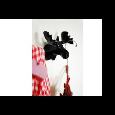 Wandhaak eland zwart